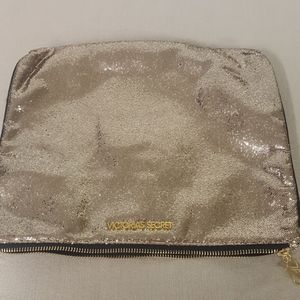 Victoria Secret Makeup Bag Gold Glitter